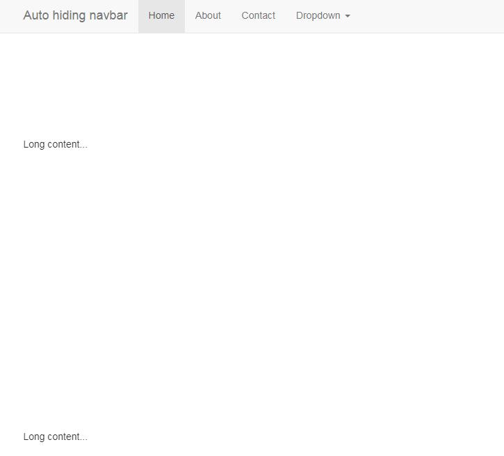jquer滾動隱藏顯示頂部導航欄效果