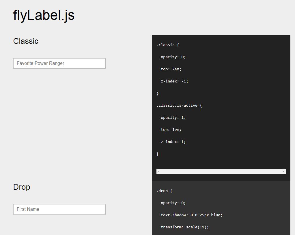 标签插件flyLabel.js