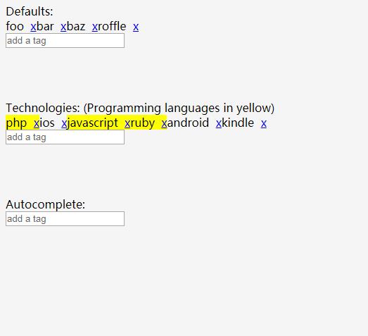 添加删除标签插件jQuery Tags Input Plugin