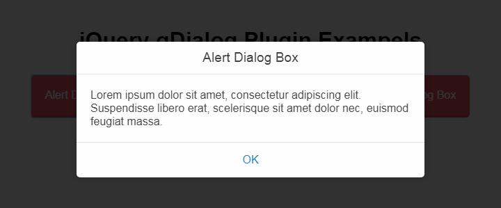 扁平对话框插件gDialog