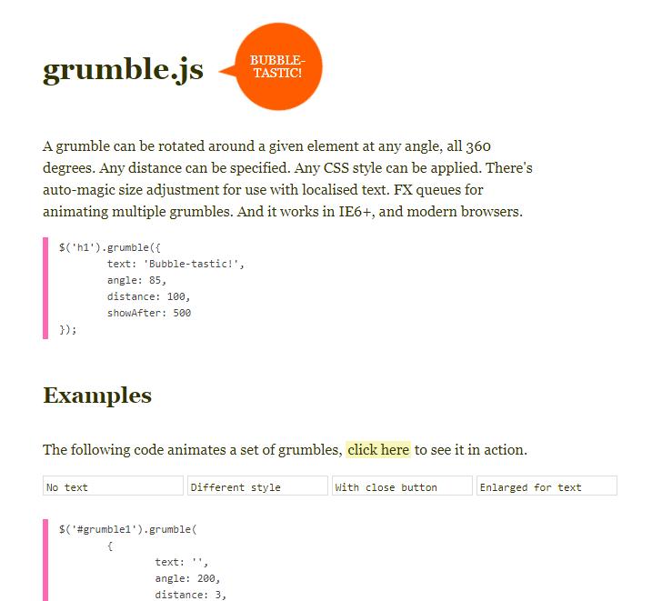 气泡形状提示插件grumble.js?3.1.71
