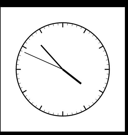 canvas绘图实时时钟效果