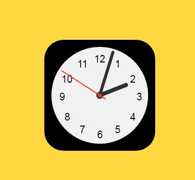 APP图标时钟动画效果