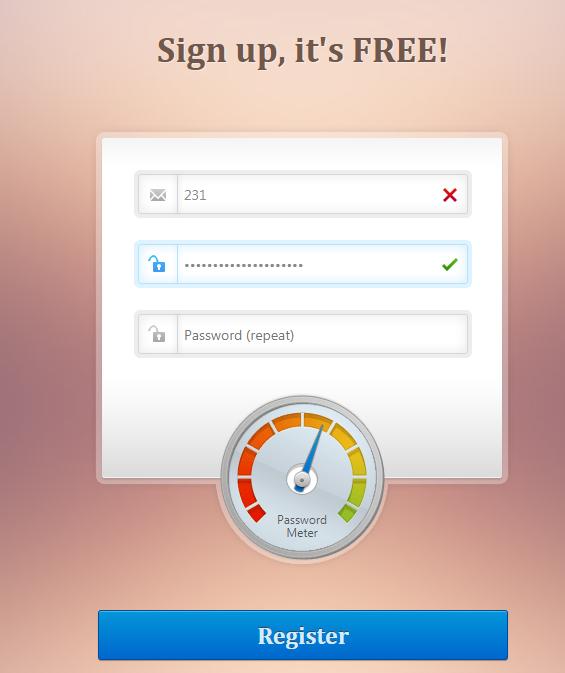 密码强度指示