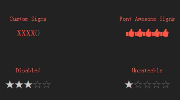 jQuery星级评分插件Ratyli