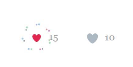 jquery动画点赞效果
