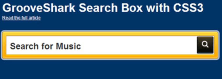 帶有凹槽的搜索框-GROOVESHARK SEARCH WITH CSS3