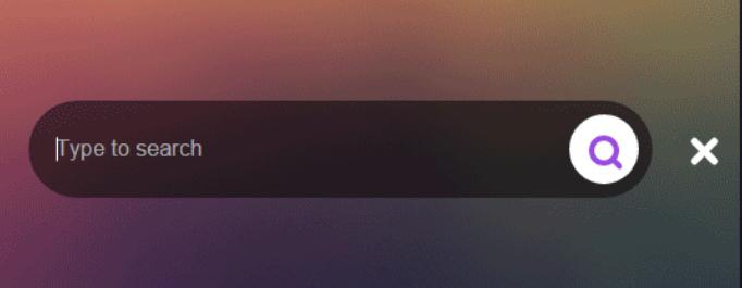 JQuery+CSS3炫酷搜索框