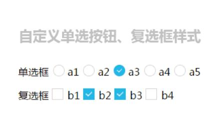 自定義單選按鈕、復選框樣式