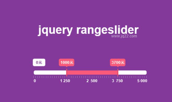 數值范圍選擇插件jquery rangeslider