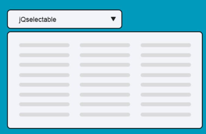 下拉列表插件 jQselectable