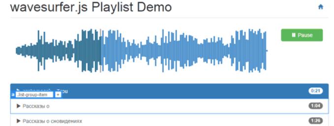js音频可视化插件Wavesurfer.js