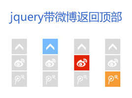 jquery右下角固定层返回顶部代码