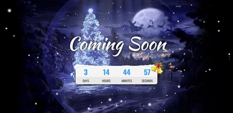 html5带音乐背景的圣诞节倒计时页面模板