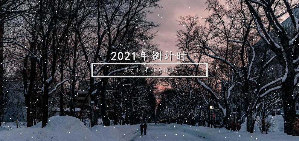 下雪主题新年倒计时特效