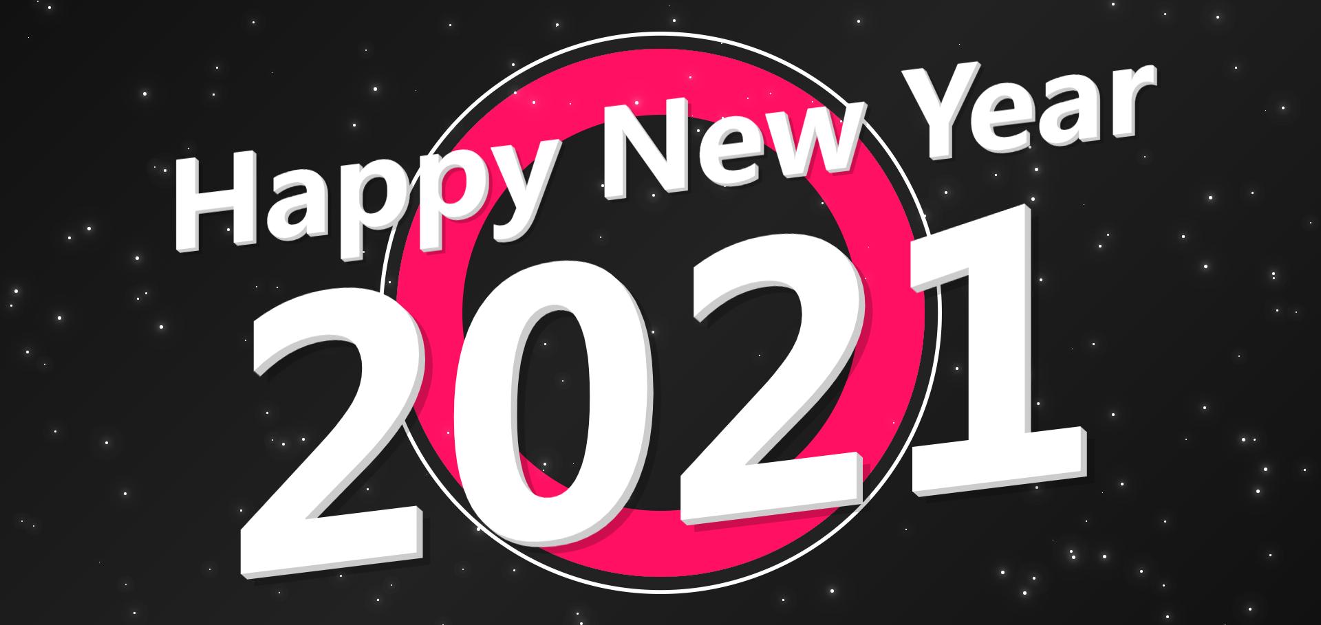 2021新年快乐星星闪烁背景动画特效