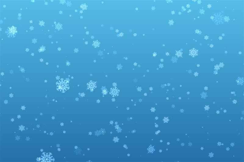 3D透明的雪花飘落动画插件