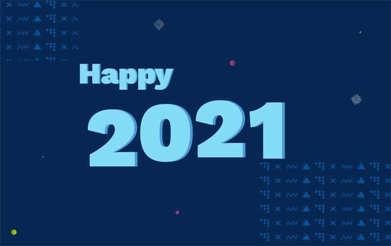 2021新年快乐网页动画特效