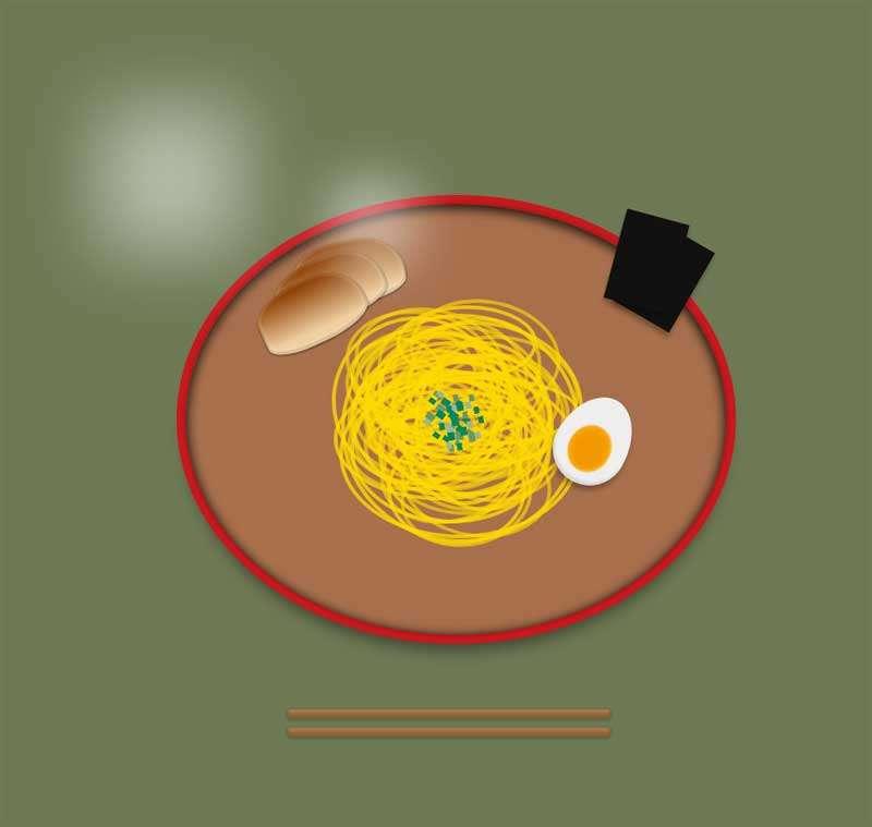 盘里的早餐拉面ui图形特效