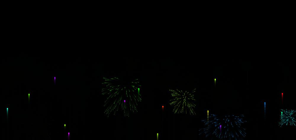 彩色的烟花爆炸动画特效