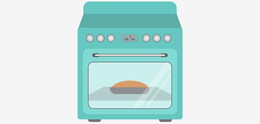 卡通的面包烤箱ui动画特效