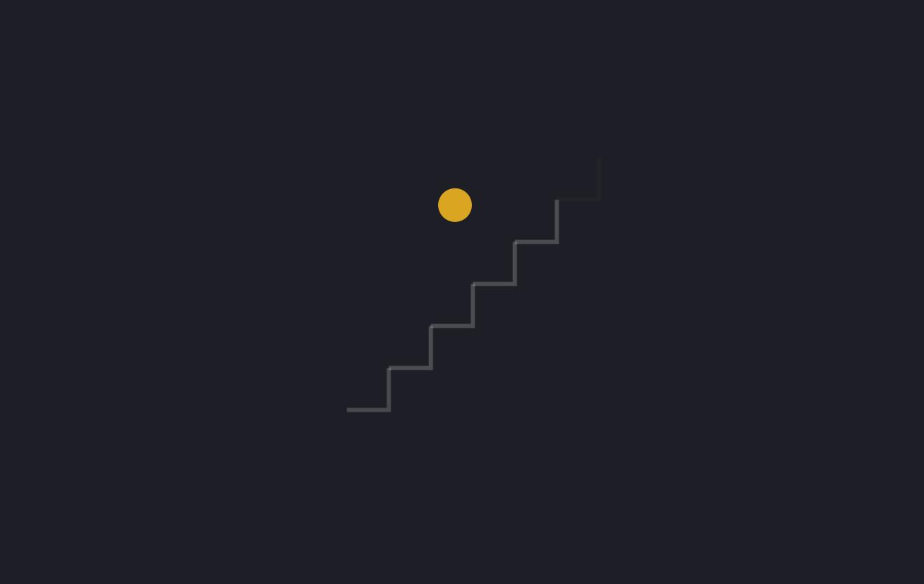 圆球跳阶梯svg动画特效