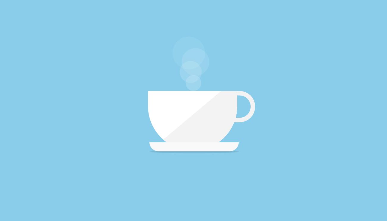 杯子里热咖啡ui动画特效