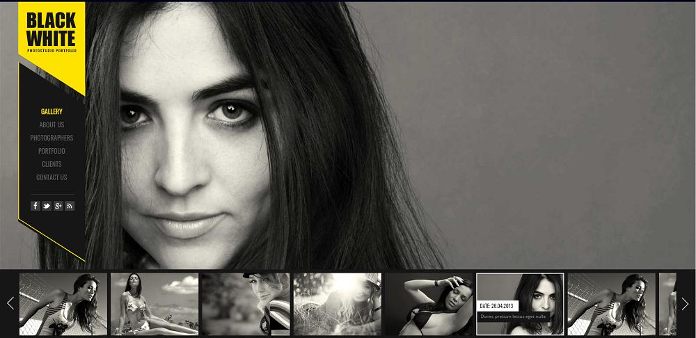全屏的个人图片相册展示模板