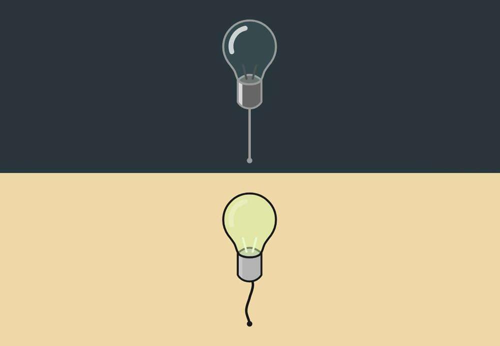 拖拽灯泡ui交互特效