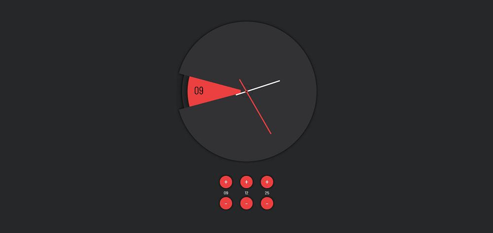 圆盘时钟时间设置svg特效