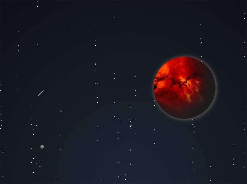 宇宙中流星天体动画场景特效
