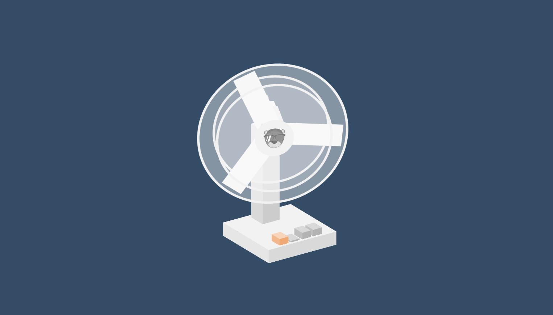 css3台式风扇动画特效
