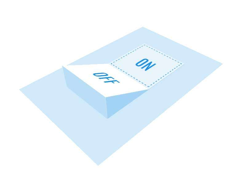 3D倾斜的开关按钮交互特效