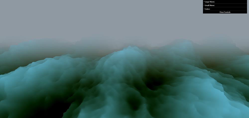 波涛汹涌的大海canvas特效