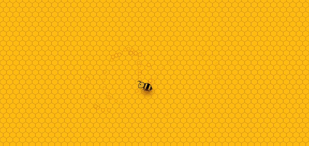 蜂巢里的小蜜蜂光标特效