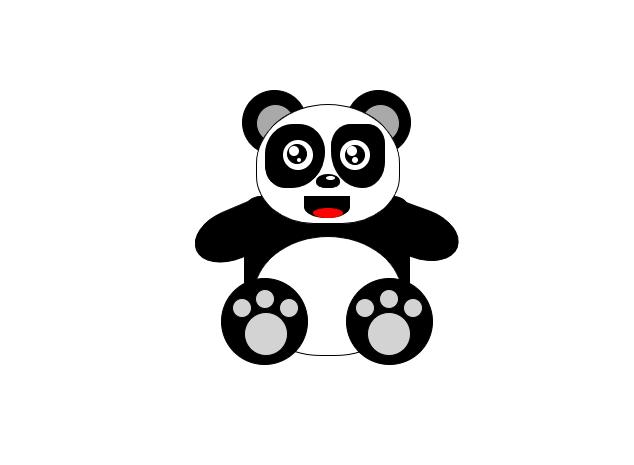 可爱的熊猫图形特效