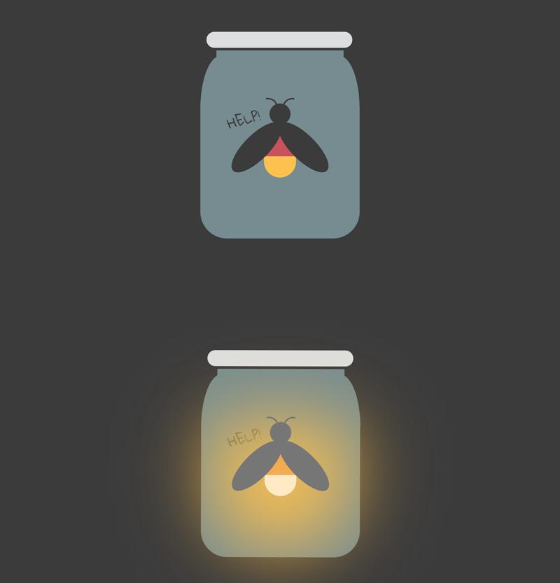 瓶子里的萤火虫动画特效