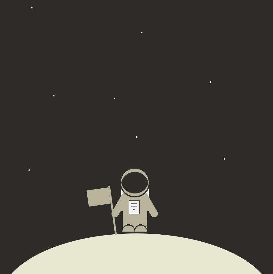 登上月球矢量图形特效