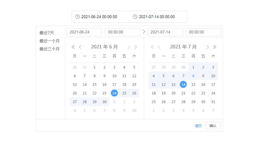 多功能的日期时间选择器实例