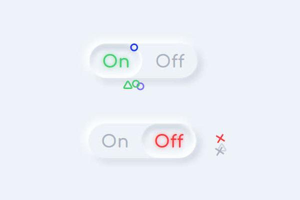 创意的开关按钮切换svg特效