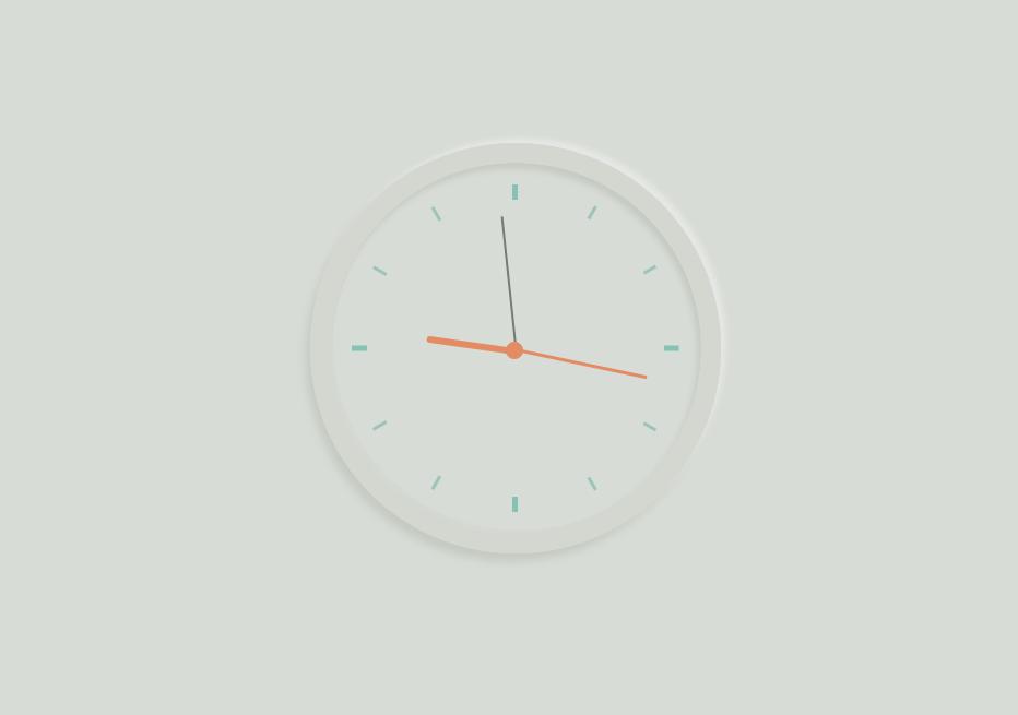 简易的中性时钟特效