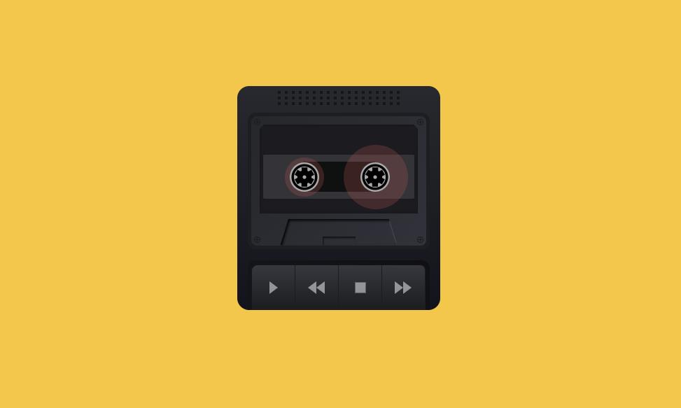 黑色胶带mp3音乐播放器特效