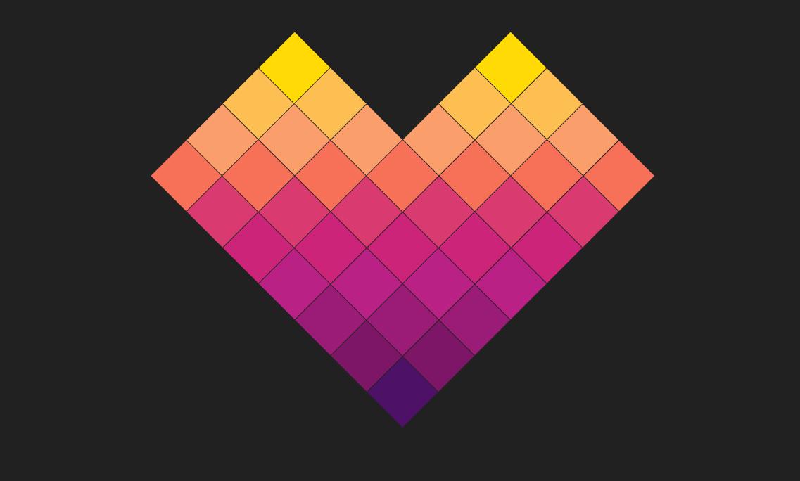 七夕彩色方块爱心ui特效