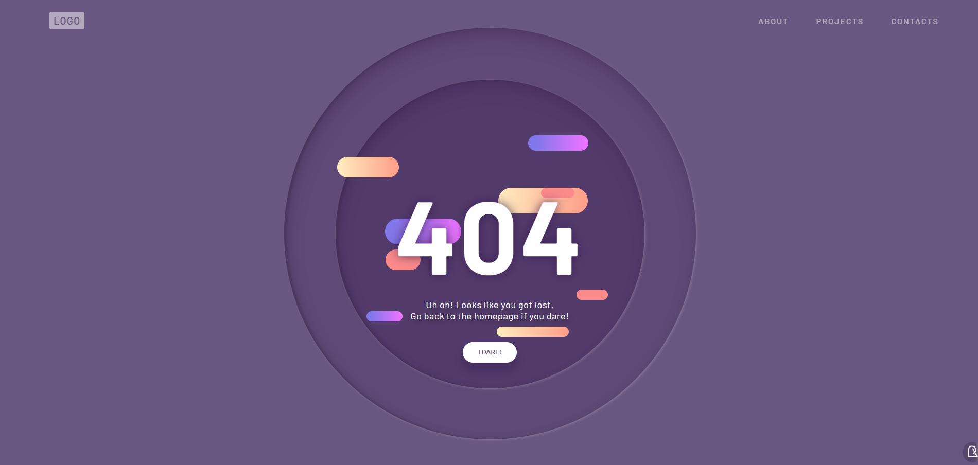 超好看的404提示页面