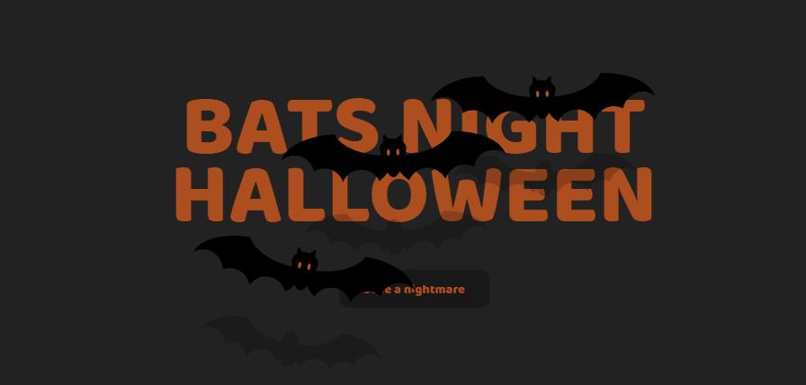 万圣节蝙蝠之夜下拉菜单栏
