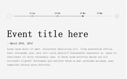 html5描述切换水平时间轴特效