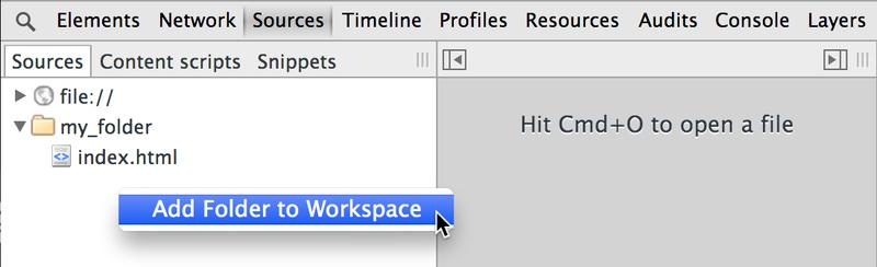 使用DevTools Workspaces保存更改