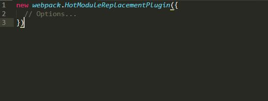 HotModuleReplacementPlugin