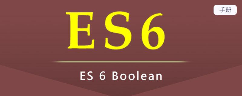 ES 6 Boolean