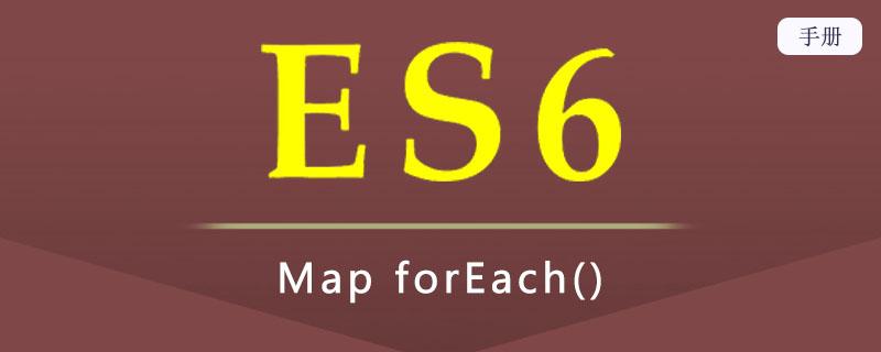 ES 6 Map forEach()